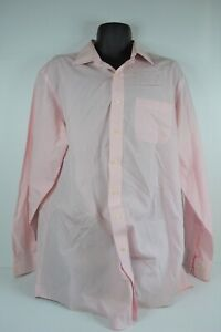 Brooks Brothers 346 Long Sleeved Button Up Shirt Pink Check 17 1/2 - VGC
