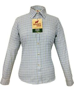 Regents View Womens, ladies country clothing Tattersall Long Sleeve check Shirt