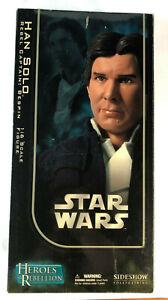 "Star Wars 12"" 1/6 Sideshow Heroes Rebellion Han Solo Bespin Jacket Figure"