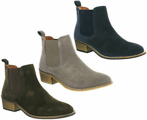 Cipriata Womens Ankle Boots Twin Gusset Italian Suede Leather Pull On Fashion