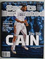 LORENZO CAIN KANSAS CITY ROYALS WORLD SERIES  2015 Sports Illustrated NO LABEL