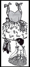 Sunsuit Playsuit DRESS FROCK Pattern BABY GIRL Child #7055 ~2~ BALLET Embroidery