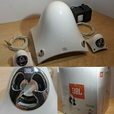 JBL Creature II Computer Speakers white used original box Please Read! For Parts