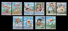 3552a-j Doraemon Characters (the 10 USED singles from sheet)