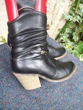 Mid Heel (1.5-3 in.) Unbranded Pull On Cuban Boots for Women
