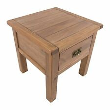 Pine Lamp Table With Drawer Lacquer Finish