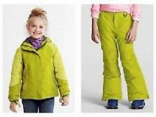 LANDS' END Little Girl's 4 Lime Squall® Waterproof Jacket & Snow Pants NWT $148