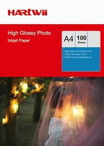 100 Sheets A4 180 / 230 / 240 / 260 Gsm High Glossy Photo Inkjet Paper Hartwi AU