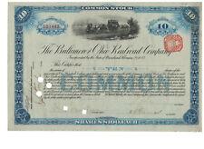 Stock Certificate - Baltimore & Ohio Railroad Co. 1902