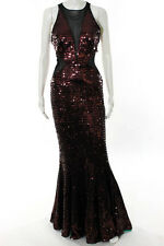 Jay Godfrey Sequinned Sleeveless Red Eye Gown Size 6 Long New $645 10131369