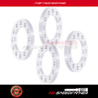 """4pcs 1/2"""" 6 Lug 6x5.5 to 6x5.5  Silver wheel spacers For Cadillac Chevrolet GMC"""