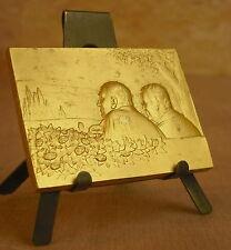 Médaille NOCE OR signée Baudichon Medal 勋章 Bronze doré  Mariage wedding
