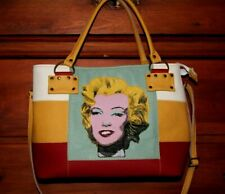 Women Leather bags handbag Marilyn Monroe Andy Warhol painted bag italian purse