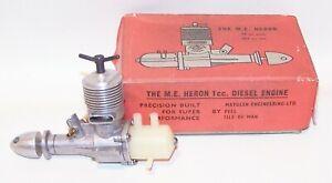 NIB (Made In Isle of Man) M.E. Heron 1cc Diesel C/L-F/F Model Airplane Engine