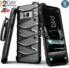 Samsung Galaxy S8+ Plus Armor Shockproof Hybrid Hard Case with Belt Clip Holster