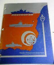 Atari DESTROYER Arcade Video Game Manual - good used original