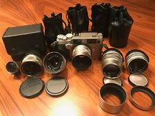 Contax G2 with 5 lenses + viewer 21, 28, 35, 45 & 90