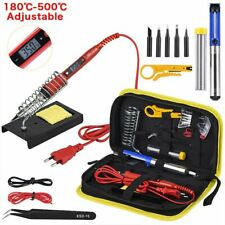 Soldering Iron Kit Adjustable Temperature LCD Solder Welding Tool Ceramic Heater