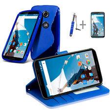BLUE Wallet 4in1 Accessory Bundle Kit Case Cover For Google Nexus 6