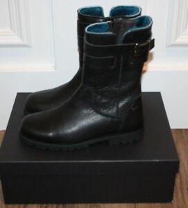 Clic! Leder Stiefel schwarz mit Futter Gr.41