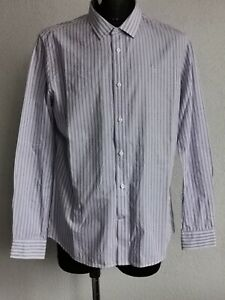 Crew Clothing Co mens cotton long sleeve striped shirt size L