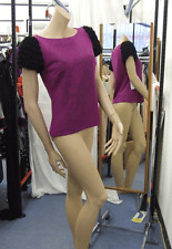Joseph Ribkoff 10 BNWT Gorgeous Mauve Purple  Stretch Top With Studded Lady Face