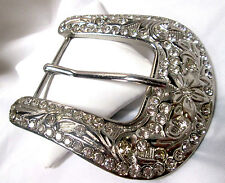 Cowgirl & Western Sparkling Classic LARGE Crystal Studded Belt Buckle