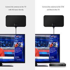 25 Mile Long Range HDTV Indoor Flat Antenna Amplified VHF UHF for Digital TV HD