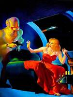 VINTAGE COMIC ILLUSTRATION ALIEN SPACE SCI FI NEW FINE ART PRINT POSTER CC4593