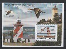 F66 Comoren Blok 451 postfris Vogels / Vuurtorens