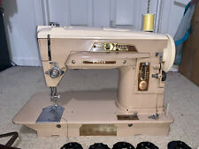 Vintage Singer 403 Slant O Matic Sewing Machine w/ Foot Pedal + Extras!