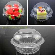 20Pc Clear Plastic Cupcake Box Single Cake Case Muffin Pod Dome Holder Container