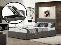 SALE DON'T MISS OUT Istanbul Storage Bed Grey 4 Sizes Memory Mattress Options