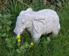 Elefant Granit massiver Stein Tierfigur Granitfigur Deko frostsicher Unikat