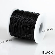 1MM Thailand Waxed Polyester Cord Macrame Bracelet Thread String - 100yds Spool