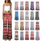 Fashion Women Loose Stretch High Waist Wide Leg Long Pants Palazzo Trousers S-XL