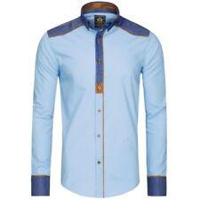 Camisas casuales de hombre multicolores azules