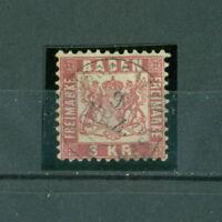 Wappen von Baden im Quadrat, Nr. 24 Plattenfehler XII gestempelt