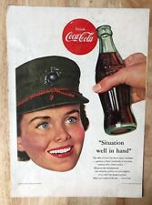 Original Magazine  Print Ad 1953 COCA-COLA Situation Well in Hand