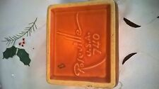 Roseville pottery Silhouette Cigarette box in Rust and shape 740 bottom only