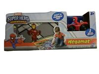 NIB Marvel Superhero Adventures Soft & Durable Megamat w/1 Spider-Man Vehicle