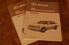 1996 Lexus GS 300 Repair Manual Complete Set of 2 LIKE NEW MINT FREE shipping