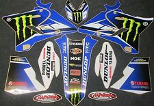 Yamaha YZ125 YZ250 2015-2018 Team USA Chad Reed graphics + plastic set GR1520