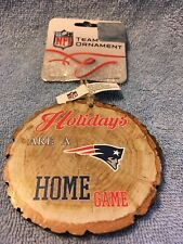 Nfl New England Patriots Wood Ornament by Forever Collectibles New