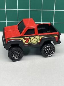 1984 Red BUDDY L TRUCK, # 7 Dice, Pick-Up Truck With HITCH, Used.