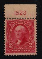 1903 Sc 301 MNG plate number single Hebert CV $40 as MH single