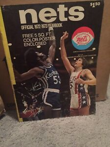 1972-1973 Official NY Nets Yearbook Signed