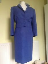 "BEAUTIFUL ""HYDRANGEA"" BLUE DRESS SUIT FROM HOBBS UK 10 RRP £400.00"
