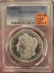 1883-CC Morgan Silver Dollar PL! VAM-8A *^PCGS**MS63PL**PROOF LIKE
