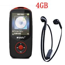 "1.8"" Bluetooth MP3 Players 4G Built In FM Radio + Wireless Headphone Black PL"